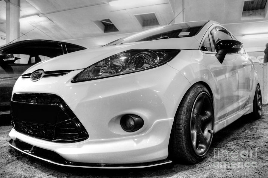 Ford Photograph - Ford Fiesta In Hdr by Vicki Spindler