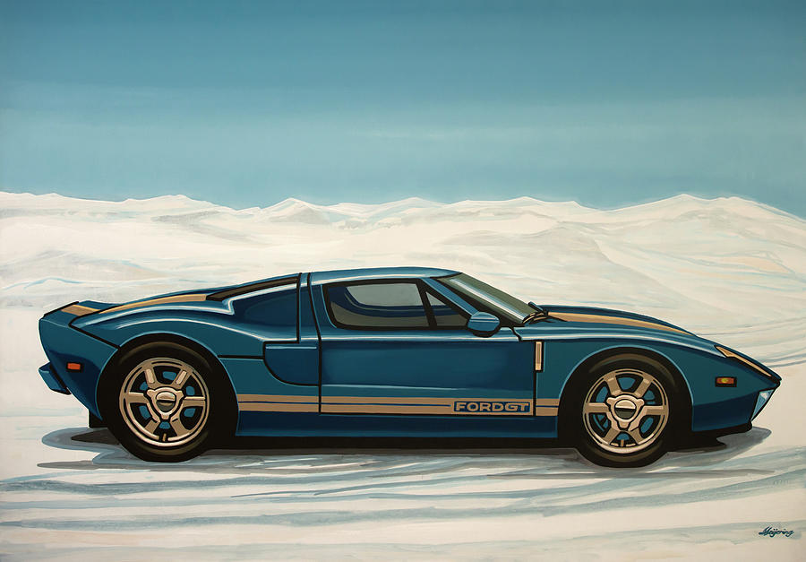 Ford Gt Painting - Ford GT 2005 Painting by Paul Meijering