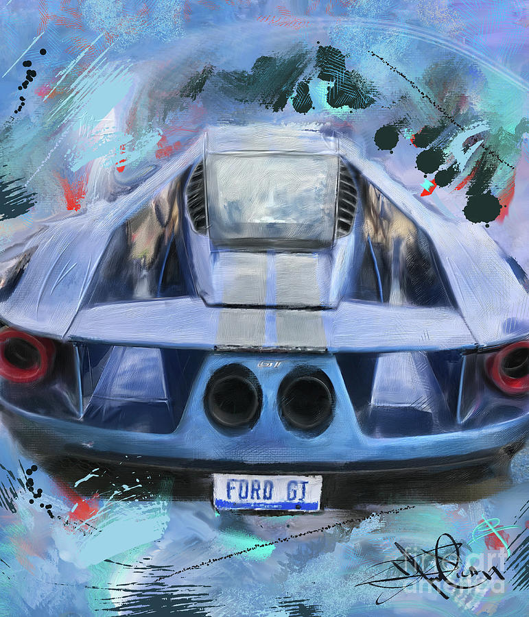 Ford Digital Art - Ford Gt by Donald Pavlica