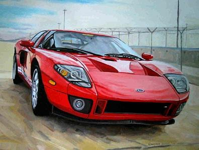 Ford GT Forty Painting by Margie Guyot