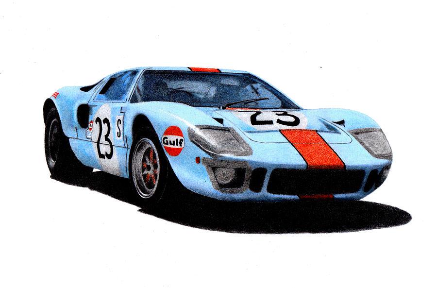Formula 1 Painting - Ford Gt40 Hobbs/hailwood 1969 by Ugo Capeto