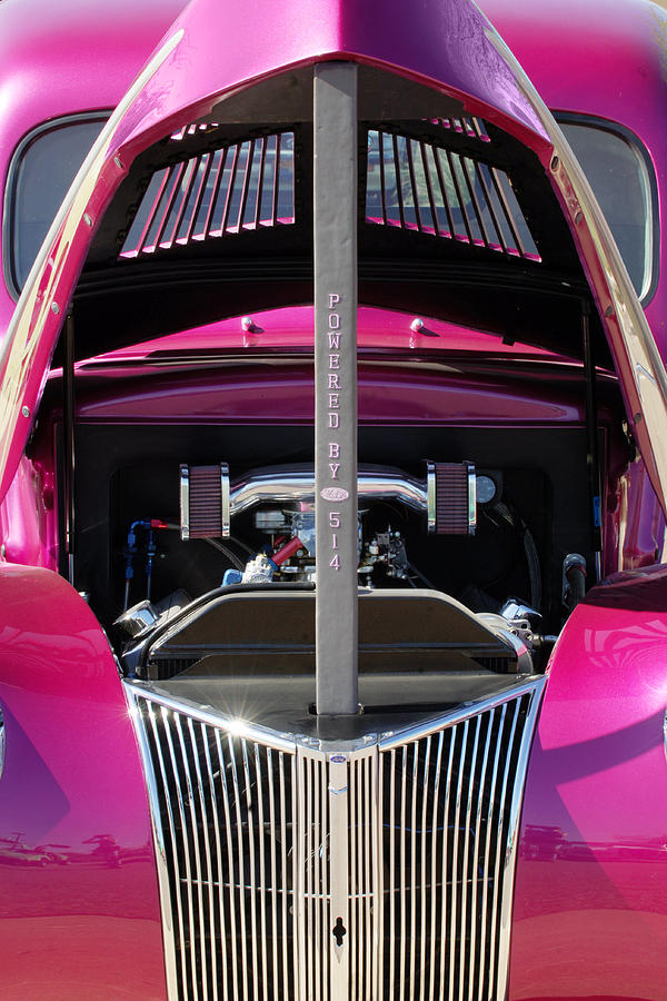 Hot Rod Photograph - Ford Hot Rod Grille by Jill Reger