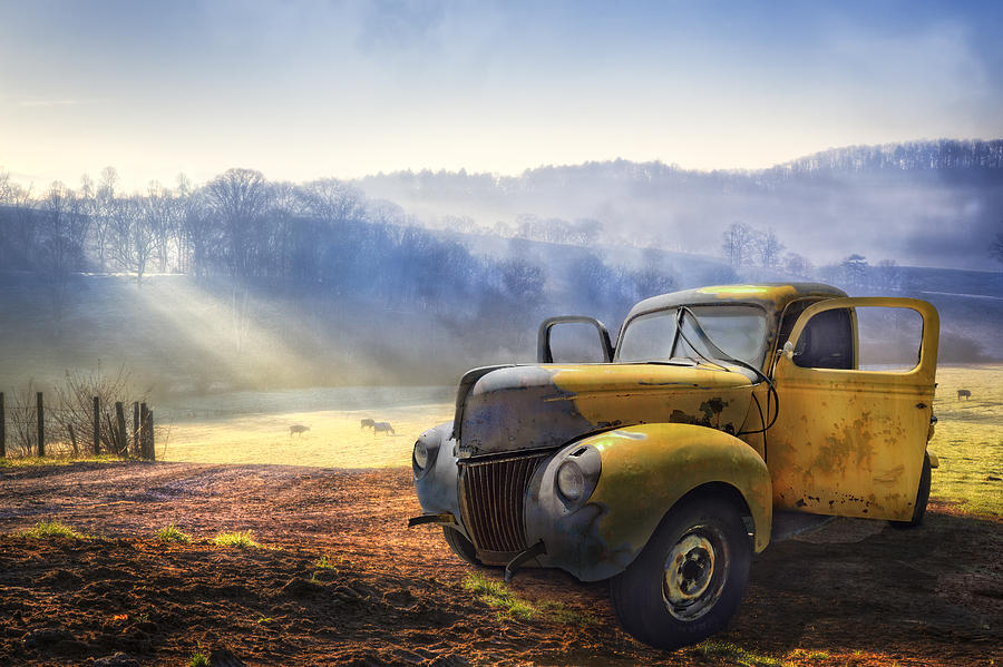 Appalachia Photograph - Ford in the Fog by Debra and Dave Vanderlaan