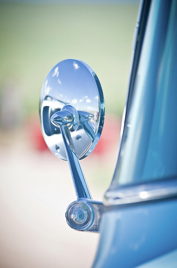 Blue Photograph - Ford Mirror by Swift Family