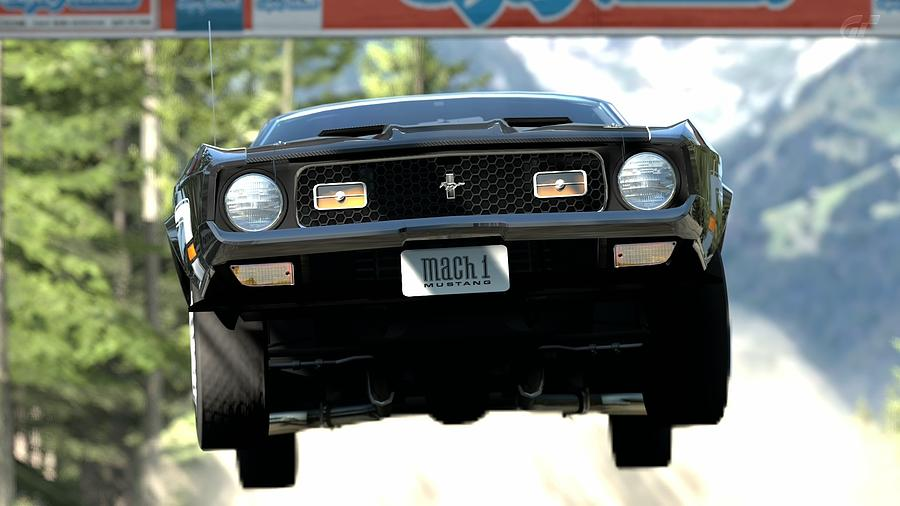 Ford Mustang Mach 1 Digital Art - Ford Mustang Mach 1 by Dorothy Binder