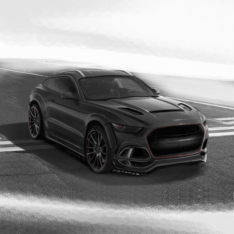 ford mustang suv by artrace digital art by artem sinitsyn. Black Bedroom Furniture Sets. Home Design Ideas