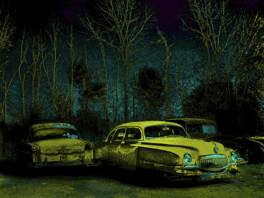 Antique Cars Photograph - Ford-o-matic And Friends by David A Brown