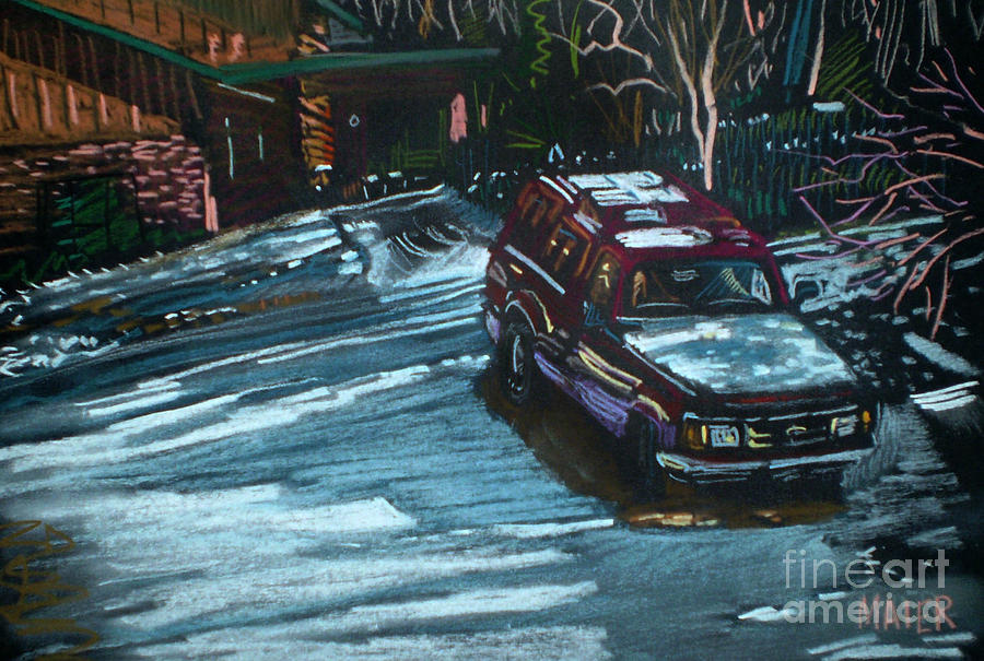 Ford Ranger Drawing - Ford Range In The Snow by Donald Maier