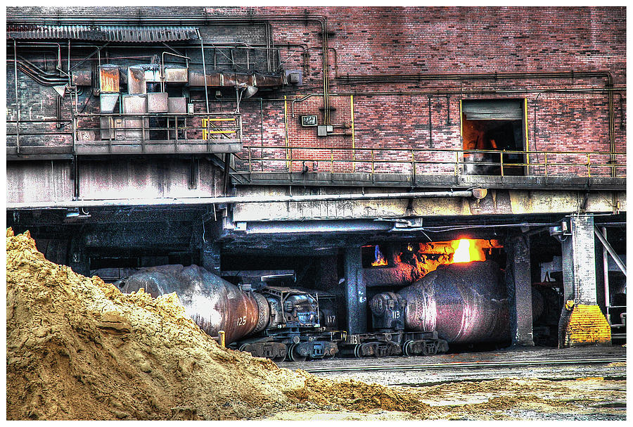 Hdr Photograph - Ford Rouge Plant Steelmill by Jerry Bernard