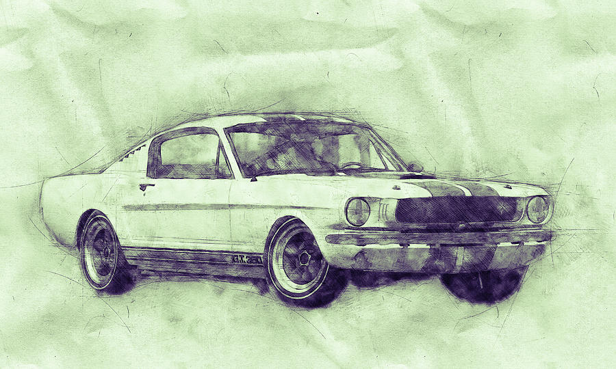 Ford Shelby Mustang Gt350 - 1965 - Sports Car 3 - Automotive Art - Car Posters Mixed Media