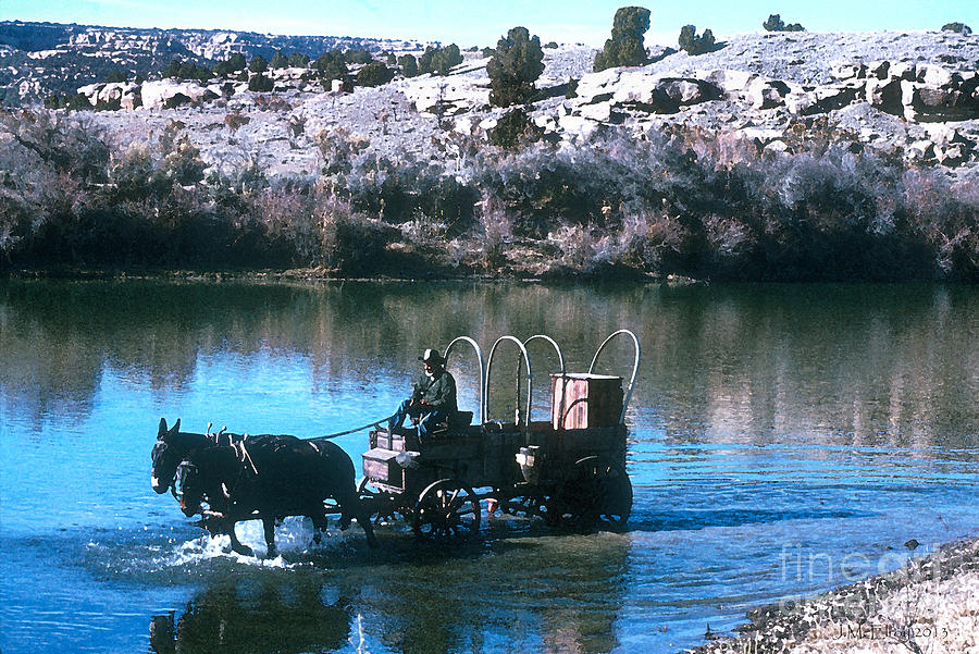 Cowboy Photograph - Ford The River by Jerry McElroy