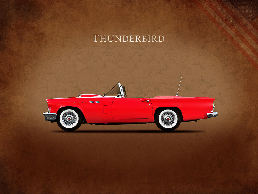 Ford Thunderbird 1957 Photograph - Ford Thunderbird 1957 by Mark Rogan