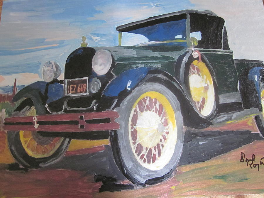 Ford Painting - Ford Truck by David Poyant Paintings