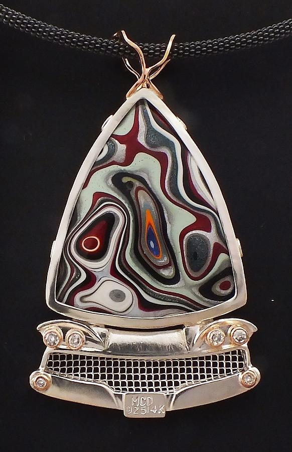Detroit Agate Jewelry - Fordite Time Travel Necklace by Marie-Claire Dole