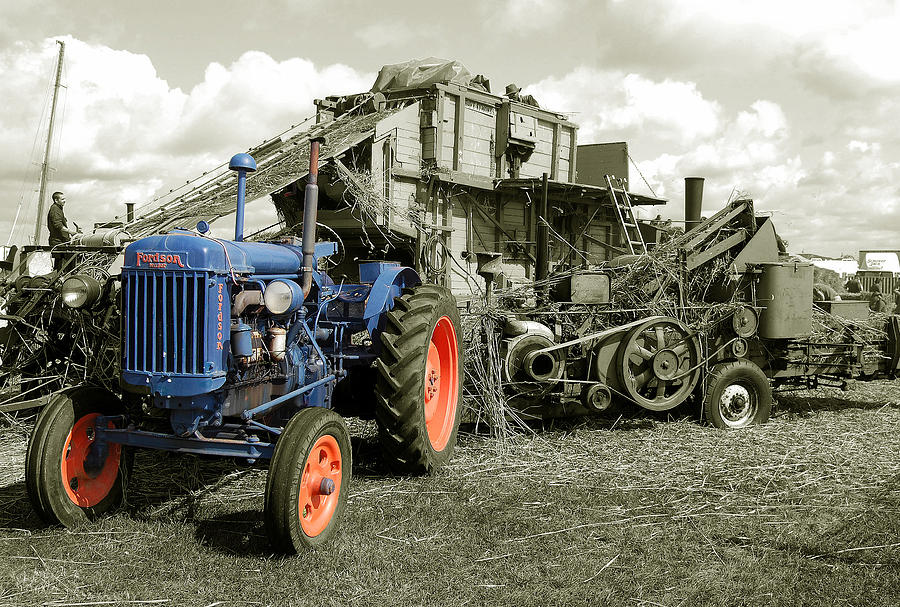 Fordson Photograph - Fordson And The Threshing Machine by Rob Hawkins