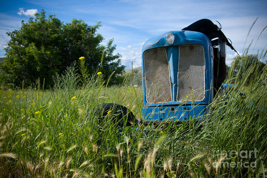 Tractor Photograph - Fordson Deisel by Idaho Scenic Images Linda Lantzy