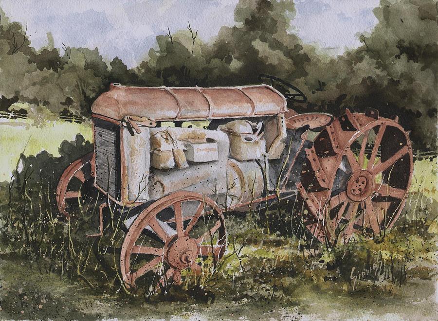 Farm Painting - Fordson Model F by Sam Sidders