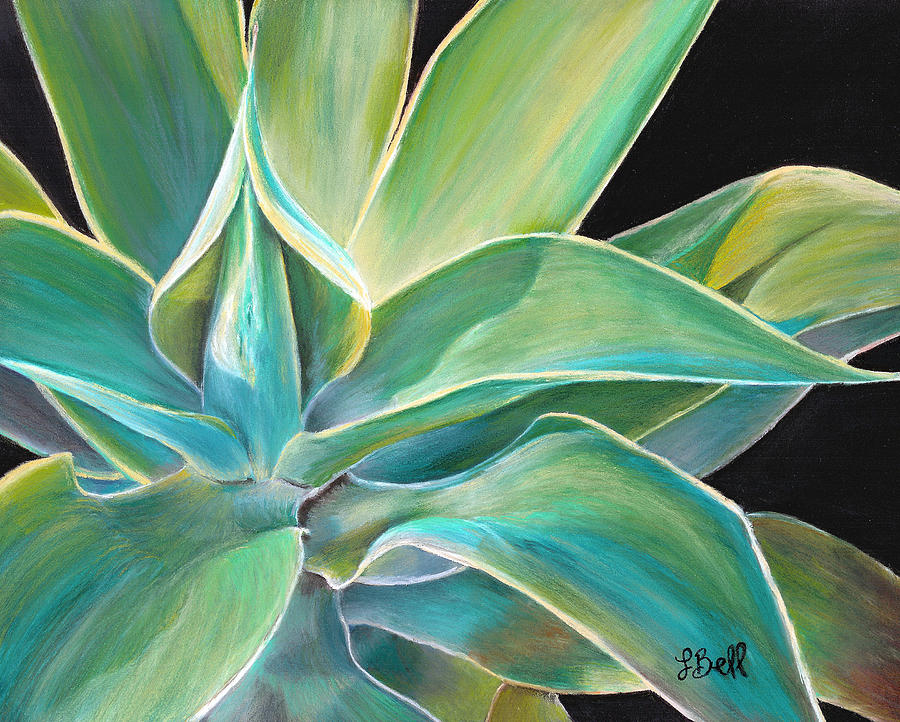 Agave Painting - Foregone Conclusion by Laura Bell