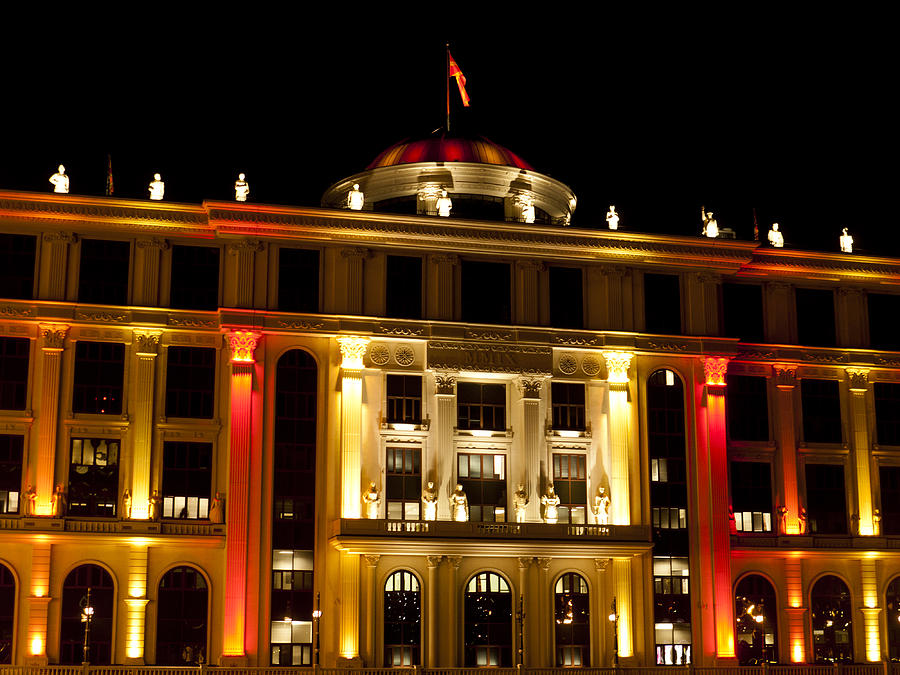 Skopje Photograph - Foreign Affairs Building by Rae Tucker