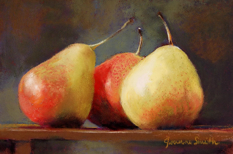 Pears Painting - Forelle Trio by Jeanne Rosier Smith