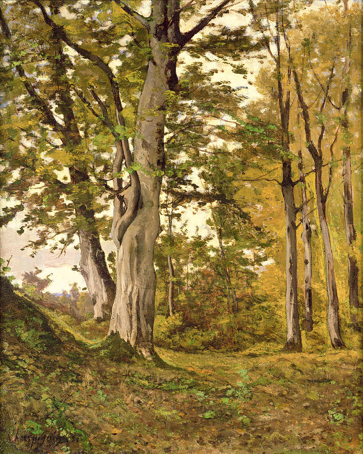 Forest Painting - Forest At Fontainebleau by Henri-Joseph Harpignies
