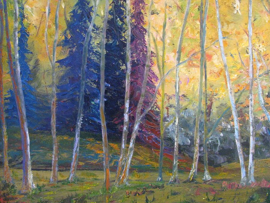 Impressionist Landscape Painting - Forest At Twilight by Belinda Consten