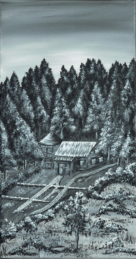 Forest Retreat. Painting