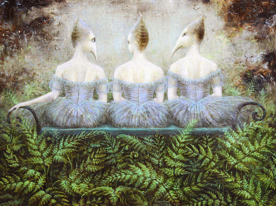 Forest Painting - Forest Divas by Lolita Bronzini