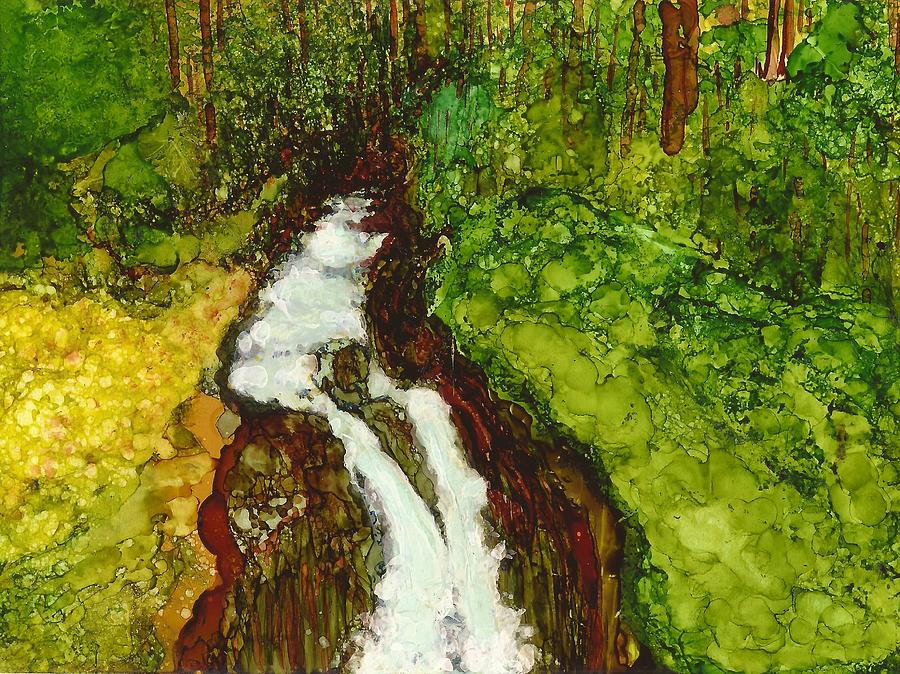 Forest Painting - Forest Fall by Joy Dorr