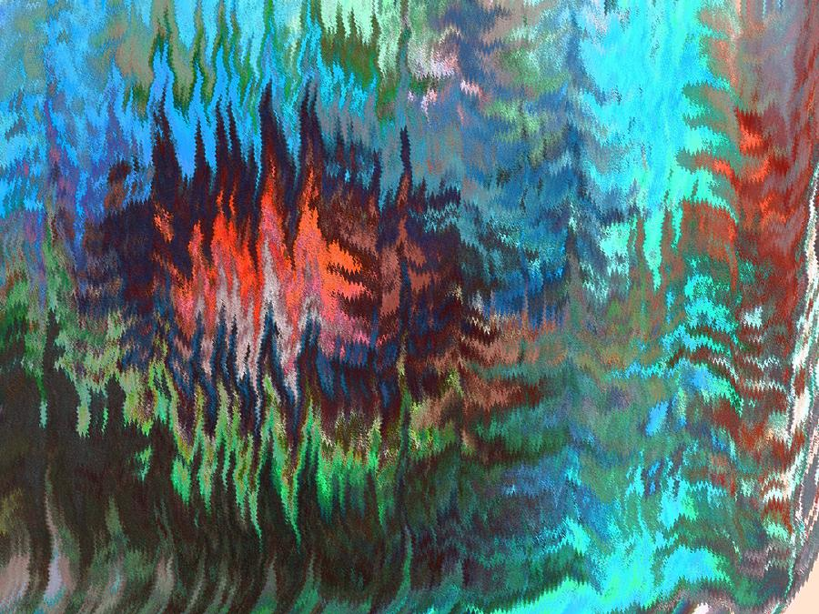 Abstract Digital Art - Forest Fire by Lenore Senior