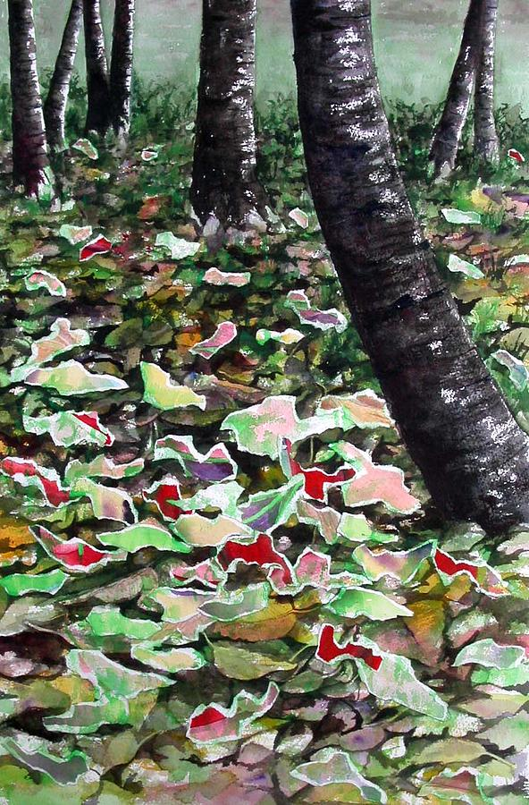 Trees Mixed Media - Forest Floor by Joanne Osband