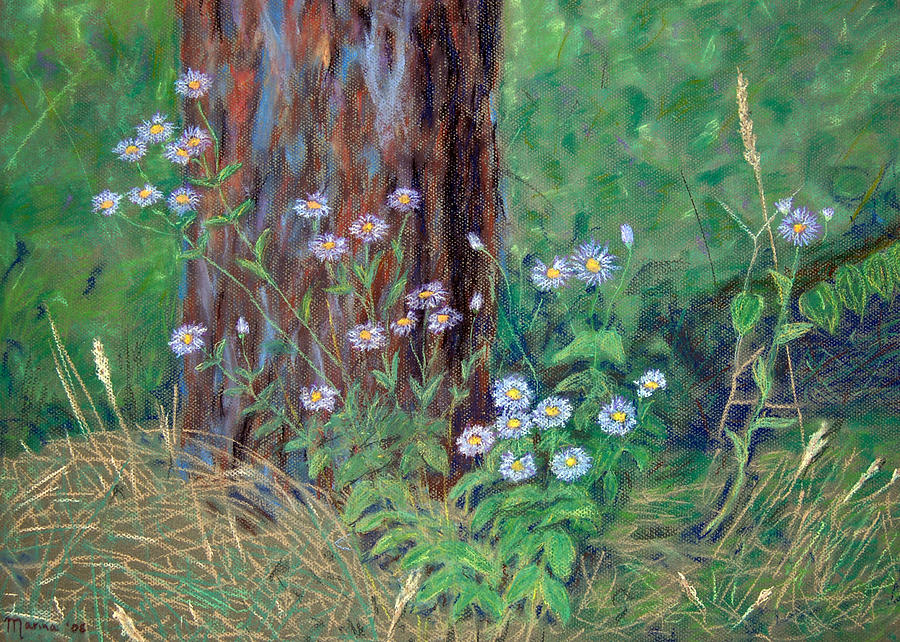 Landscapes Pastel - Forest Flowers by Marina Garrison