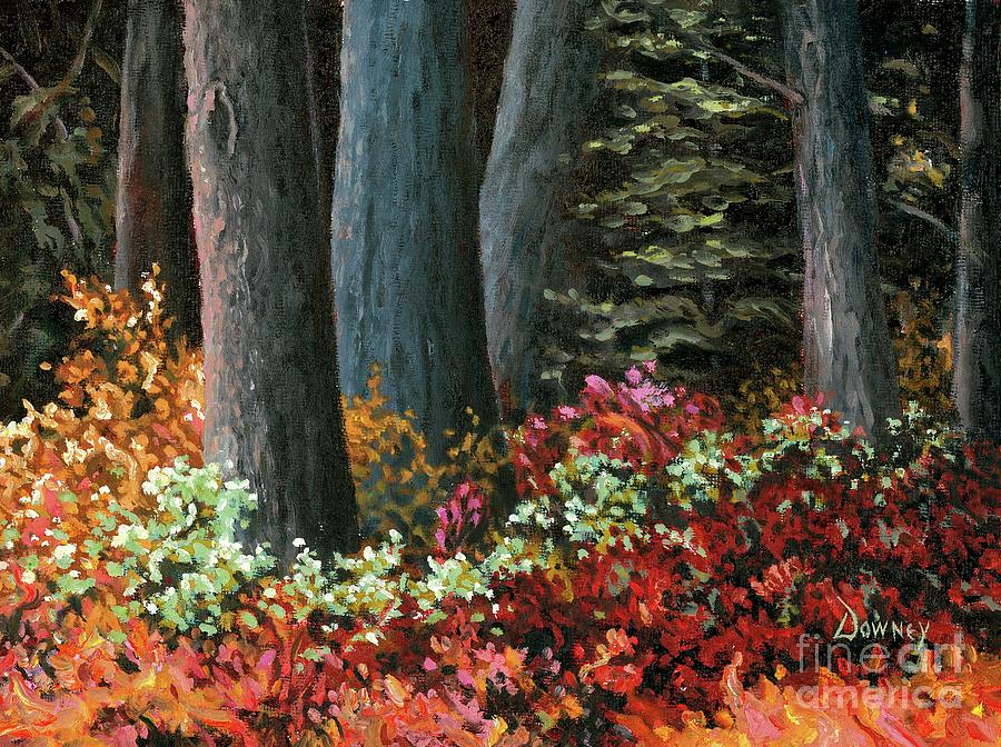 Oil Painting - Forest Foliage by Carl Downey