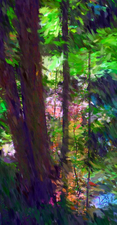 Nature Digital Art - Forest for the trees by David Lane