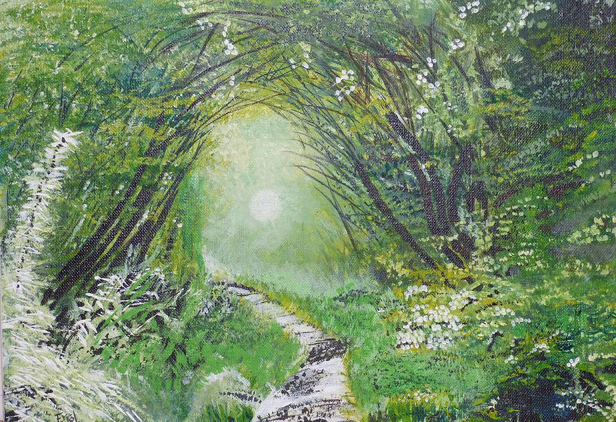 Spring Green Painting - Forest In Spring by Errol Dyer
