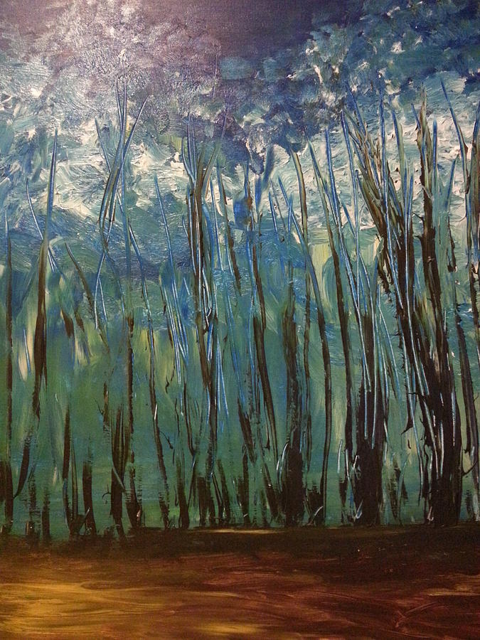 Forest In Winter Painting