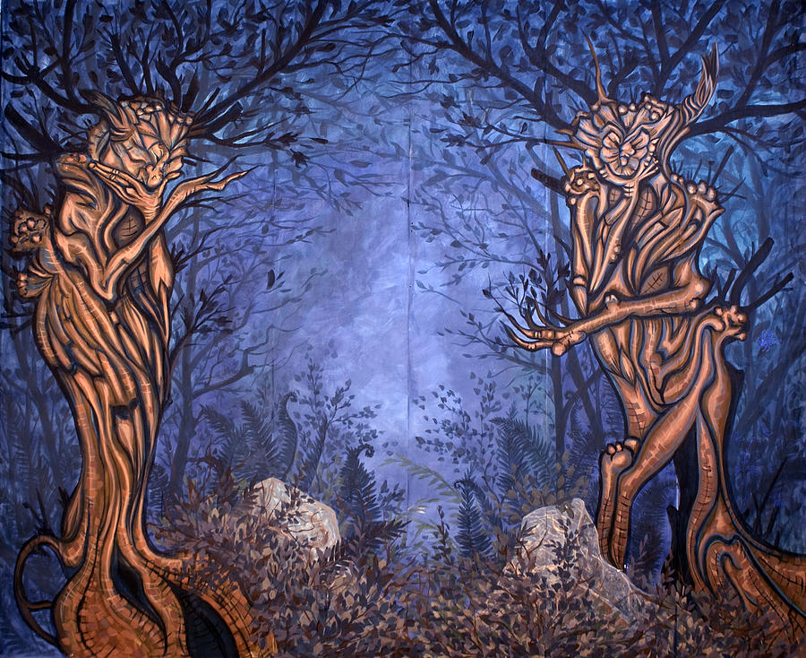 Mystic Painting - Forest by Judy Henninger