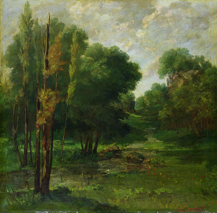 Forest Painting - Forest Landscape by Gustave Courbet