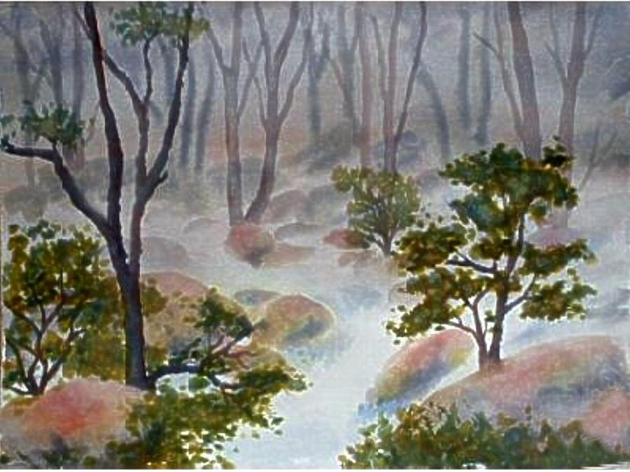 Forest Painting - Forest Mist by Darla Brock