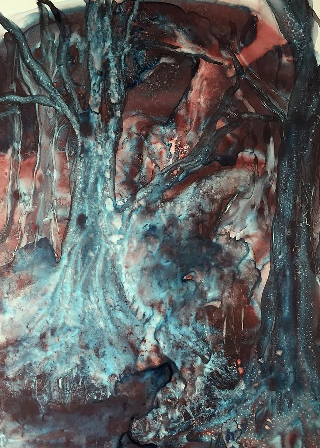Black Painting - Forest Of A Different Color by Nina Bryant