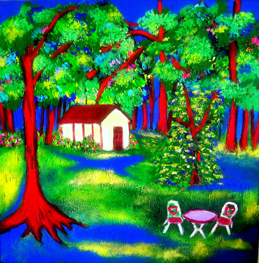 Forest Of Dreams Painting by Ted Hebbler