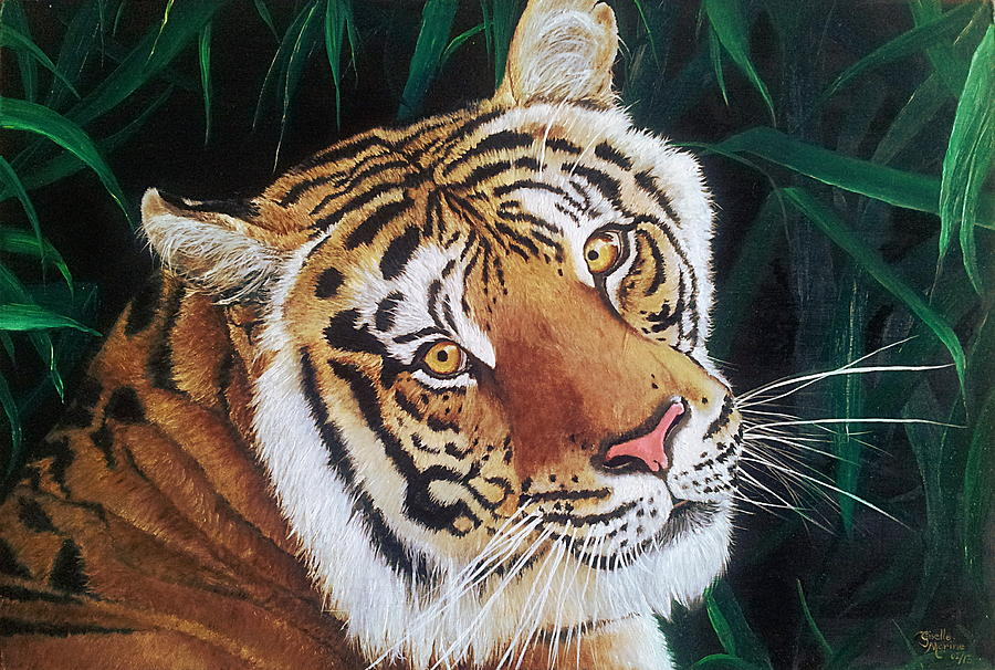 Tiger Painting - Forest Of The Night by Studio Giselle
