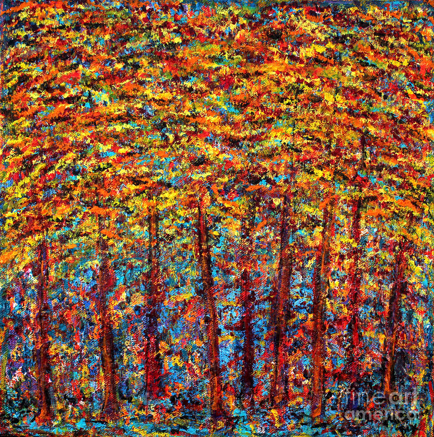 Acrylic Painting - Forest On Fire by Melanie Dix