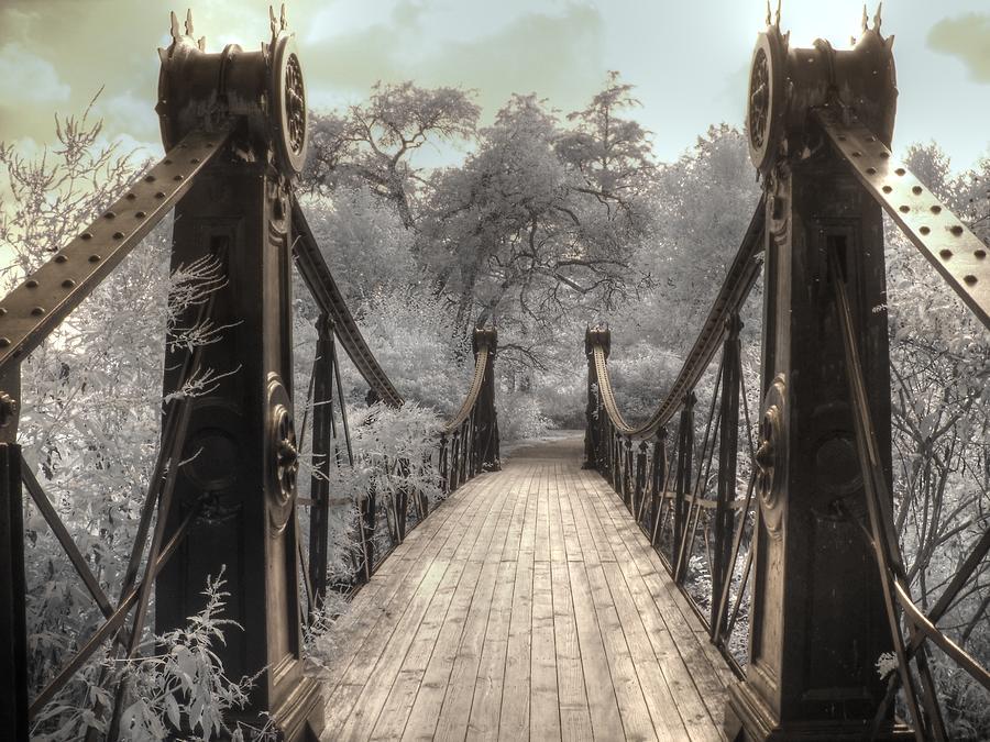 Forest Park Victorian Bridge Saint Louis Missouri infrared by Jane Linders