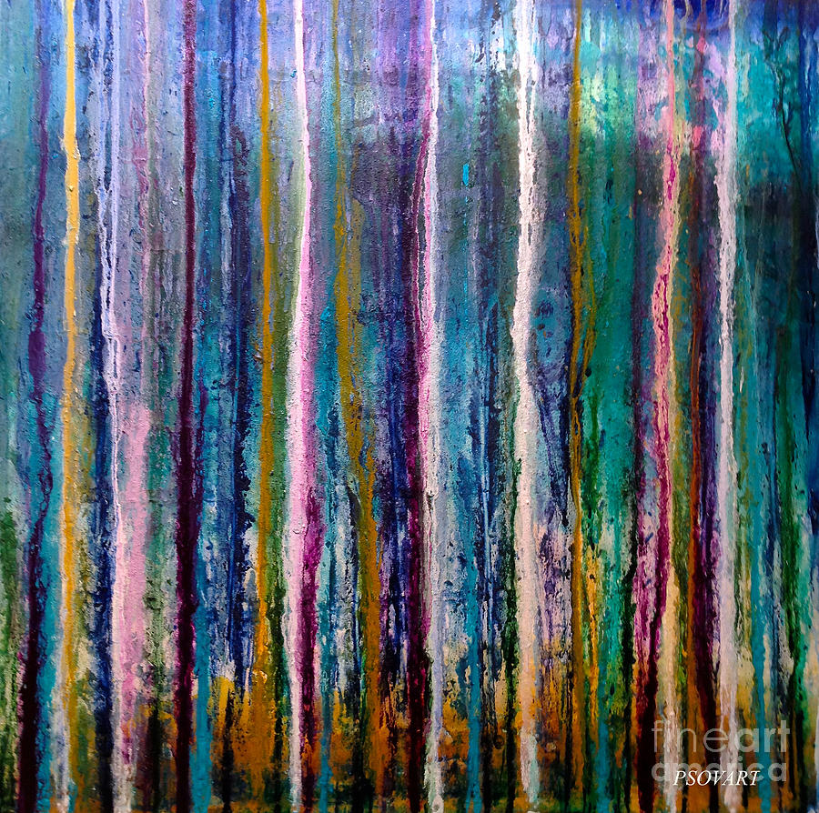 Abstract Painting - Forest Rain by Patty Vicknair