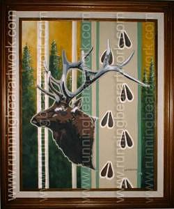 Framed Painting - Forest Royale by Michael Meissner