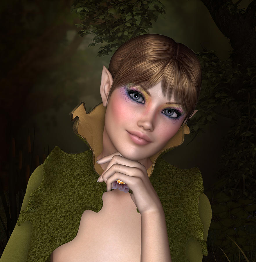 Woman Digital Art - Forest Sprite by David Griffith