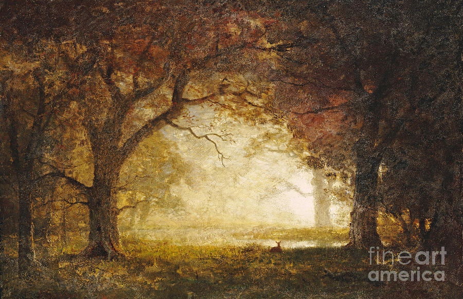 Albert Bierstadt Painting - Forest Sunrise by Celestial Images