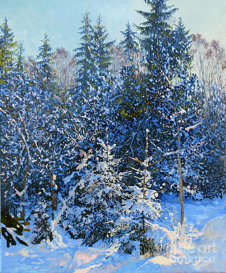 Winter Painting - Forests Fairy-tale. by Simon Kozhin