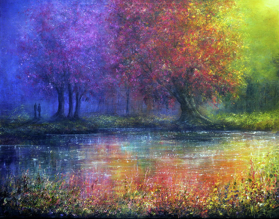 Romantic Painting - Forever by Ann Marie Bone